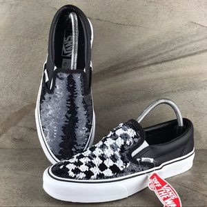 Vans Classic Slip-On Flipping Sequins Checkerboard